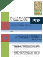 ANALISIS DE LABORATORIO EN COAGULACIÓN