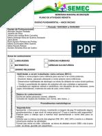 PLANO DE ATIVIDADE REMOTA  - 1º AO 5º ANO