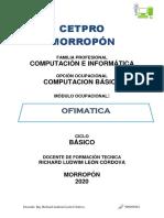 MODULO COMPUTACION BASICA CETPRO 2020