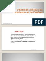 L'Examen Clinique Du Nourrisson Et de l'Enfant