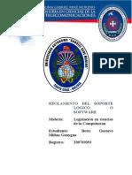 REGLAMENTO DEL SOPORTE LÓGICO O SOFTWARE