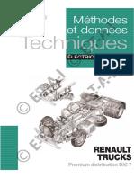 Méthodes et données. Techniques ÉLECTRICITÉ RENAULT TRUCKS. Premium distribution DXI 7