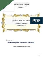 COURS DROIT DES AFFAIRES S5-2021