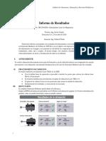 Informe de Alineacion Turbina