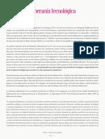 dossier sobre soberanía tecnológica texto de Alex  Haché