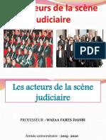 5 Les Acteurs de La Scene Judiciaire