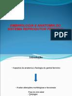 Embriologia e Anatomia Do Sistema Reprodutor Feminino