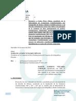 Denuncia de Vizcarra contra Pérez Ochoa
