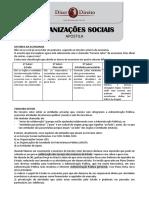 Organizações Socias - Resumo