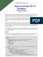 Google Maps Javascript API v3 Examples