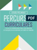 Percursos Curriculares 26Novembro VersaoPreliminar Para as Escolas