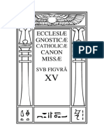 Ecclesiae Gnosticae Catholicae Canon Missae - Edi‡Æo em Portuguˆs