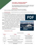 Geografia_Aquecimento Global e Problemas Ambientais
