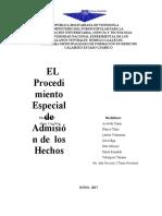 PROCEDIMIENTO POR ADMISION DE LOS HECHOS
