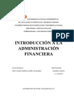 ADMINISTRACION FINACIERA
