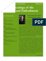 Spring 2011 Newsletter Sociology of the Body and Embodiment