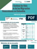 2021-03-25 Semana - Resultados Encuesta Calidad Vida e Integracion Migrantes