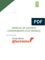 MANUAL DE USUARIO COMPROBANTE ELECTRÓNICO APLICACIÓN GRATUITA