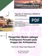 Predisposisi Musim dan Penyakit pada Unggas