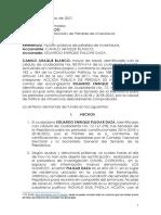 Demanda Eduardo Pulgar