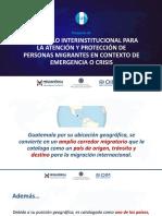 PRESENTACIÓN_Protocolo Interinstitucional de migrantes en contexto de emergencia y desastres_GTM