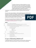 O Marketing Multinível