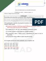 Desenho técnico avaliação 01