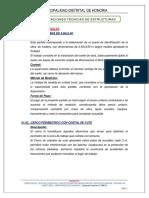 4.1 ESPECIFICACIONES  TECNICAS  ESTRUCTURAS