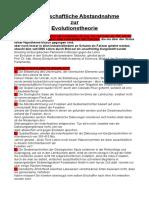 Henry Dalcke Wissenschaftliche Abstandnahme Zur Evolutionstheorie