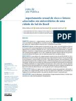 Comportamento sexual de risco e Fatores associados 2019