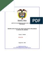 Memoria plancha 299 Jamundí - INGEOMINAS, 1985.
