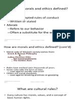Presentation 1 Ethics