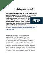 Qué es el dogmatismo