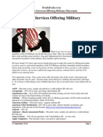 Listing of Stores and Services Offering Military Discounts