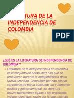 Literatura de la independencia de colombia MARIA SALAMANCA