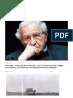 Chomsky_ Um mundo que incorpore a cultura de solidariedade e ajuda mútua tem que ser realizado para a espécie humana sobreviver - Viomundo