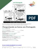 As Horas Em Português