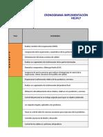 Cronograma implementación.