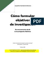 La teoría de los Objetivos de Investigacion -Hurtado 2005-