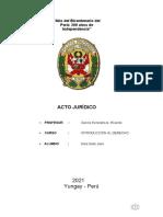 Introducción al Derecho Acto-Juridico