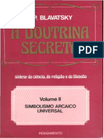 Doutrina Secreta, A II, (1888) - H. P. Blavatsky