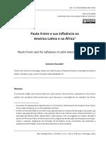 FAUDEZ, Paulo Freire na America Latina e Africa
