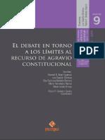 El debate en torno a los límites al recurso de agravio constitucional