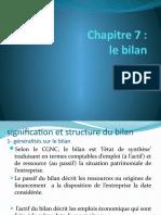 comptabilité generale ch7 BILAN