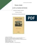 Azaña, Manuel - Causas de la Guerra