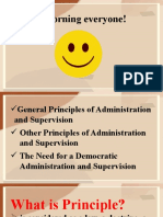 General Principles of Administration and Supervision