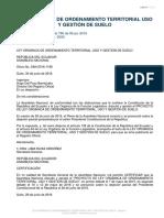 LEY ORGANICA DE ORDENAMIENTO TERRITORIO Y USO DE SUELO