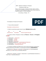 MEP - Métodos de Estudo e Pesquisa