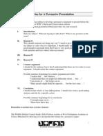 outline of persuasive presentation