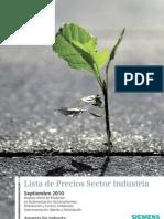 1.Lista de Precios Sector Industria Septiembre 2010